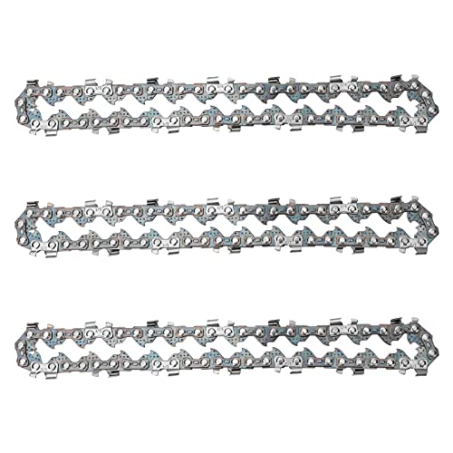 LINGSFIRE 3 Piezas de Cadenas de Sierra 1/4 Pulgadas, Guía de corte de madera Mini cadena de motosierra para todas las marcas Sierra de cadena eléctrica inalámbrica de mano de 4 pulgadas