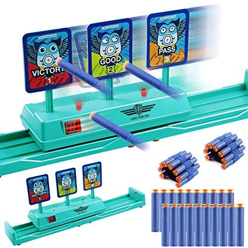 Objetivo de Tiro Eléctrico, Objetivo Digital Electrónico para Pistolas Nerf con 20 Balas y 2 Pulseras, Apto para Nerf N-Strike Elite / Mega / Rival Series