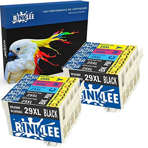 RINKLEE 10 Compatibles 29XL 29 XL Alta Capacidad Cartuchos de Tinta Reemplazo para Epson XP-235 XP-245 XP-332 XP-335 XP-342 XP-432 XP-435 XP-442 XP-445 XP-247 XP-255 XP-257 XP-345 XP-352 XP-455
