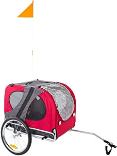 Rage Powersports Red Pull-Behind Dog Bicycle Trailer Pet Carrier