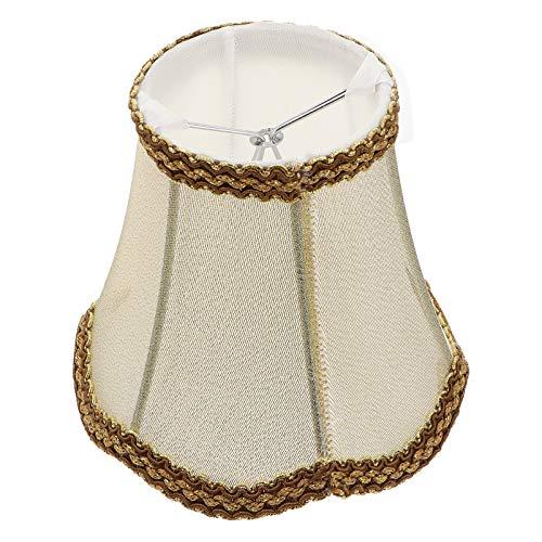 SOLUSTRE Antigüedad Mediana Tela de La Pantalla de La Lámpara Forma de Campana Real Pantalla Lámpara Decorativa Accesorios para Lámpara de Mesa Lámpara de Pie Lámpara de Pared Dorado
