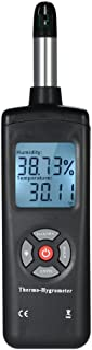 Tykeed Digital LCD Thermo-Hygrometer Hygrometer Temperature & Humidity Meter Psychrometer Wet Bulb Dew Point Temperature D...