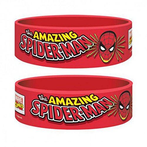 1art1 73403 Spider-Man - Spider-man, Marvel Retro Armband 6 x 2 cm