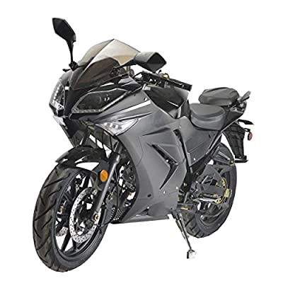 X-PRO 125cc Motorcycle Adult Gas Motorcycle Dirt Motorcycle Street Bike Motorcycle Bike Full Assembeld (Black) by X-Pro