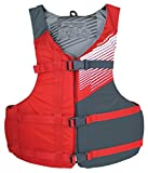 Stohlquist Oversize Fit Life Jacket/Personal Floatation Device, Red/Gray