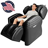 OOTORI Full Body Massage Chair, Zero Gravity Airbags Shiatsu Massage Chairs Recliner with Lower Back Heat and Foot Rollers (Black)