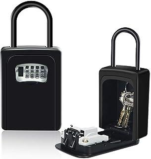 comprar comparacion HUSAN Caja de cerradura de llave con grillete, montado en la pared almacenamiento segura de llave con cerradura exterior p...