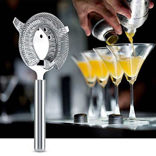 Eastbuy Bar-Sieb - Edelstahl-Cocktail-Filterleiste Sieb Getränkefilterwerkzeug for Bar Restaurant (19.7 * 10.4cm)