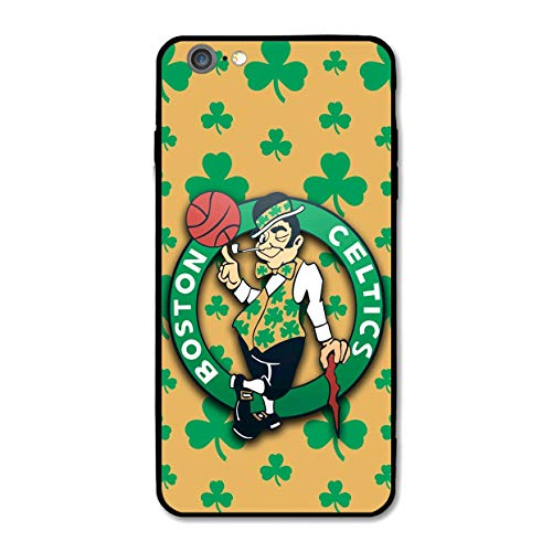 Customevader Phone Case for iPhone 6 iPhone 6s, Ultra-Thin Printed Acrylic Rear Panel Shockproof Anti-Scratch, with Soft TPU Bumper Military Cover for iPhone 6/6s Only 4.7 inches (Celtics-Shamrock)