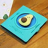Diario Cuaderno Cuaderno De La Serie Gourmet, Extracto Portátil, Libreta, Plato Vacío Azul + Aguacate1579