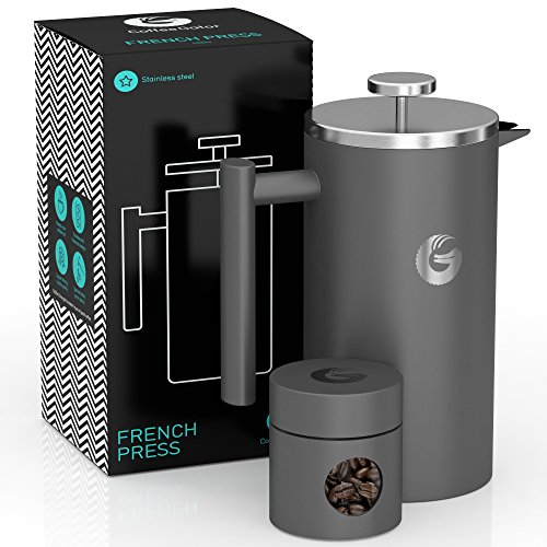 CAFETIERE A Piston/A Pression Gris 1...