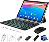 Tablet 10 Inch 4G LTE, Android 10.0 Pie Tablets with Wireless Keyboard Case and Mouse, 4GB RAM 64GB ROM, Quad Core, 8MP Dual Camera, Dual 4G SIM Support A&TT and T-Mobile, 8000mAh, WiFi - Black