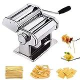 SHENAISHIREN Maker de Pasta de Fideos, máquina de Acero Inoxidable Lasaña Spaghetti Tagliatelle Ravioli Maker Maker Machine Cocina Pasta Herramienta/Espesor Ajustable