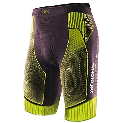 X-Bionic Effektor 4.0 Run Men Shorts Homme, Black/Acid Green, FR : S (Taille Fabricant : S)