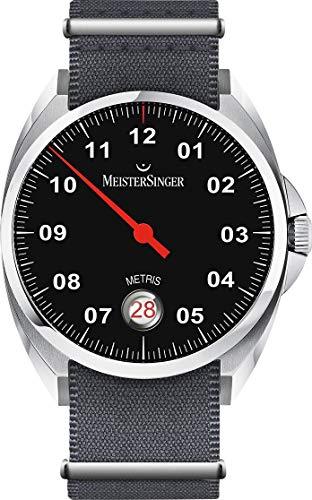 Meistersinger Metris Herren-Armbanduhr 38mm Armband Textil Automatik ME902