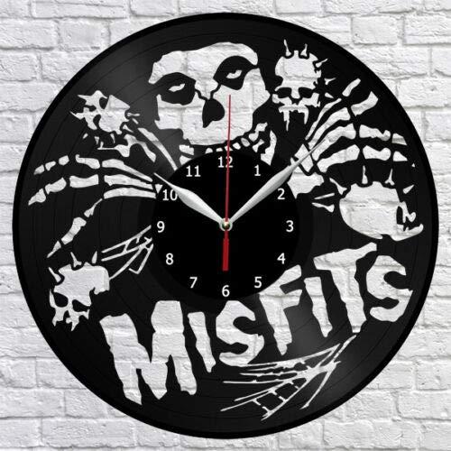 Misfits Vinyl Record Reloj de Pared Decoración para el hogar Fan Art...