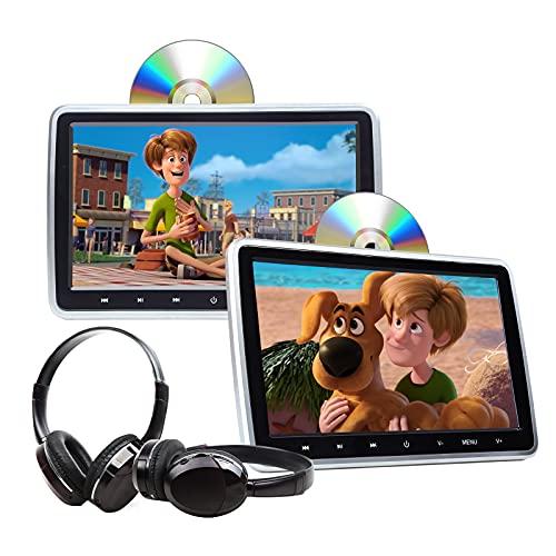 2021 Summer Newest Headrest DVD Player 10.1 Inch Dual Screen DVD Player Universal Vehicle Headrest Monitor Portable DVD Player for Kids Headrest DVD Player Digital Touch Button HDMI-C1100B