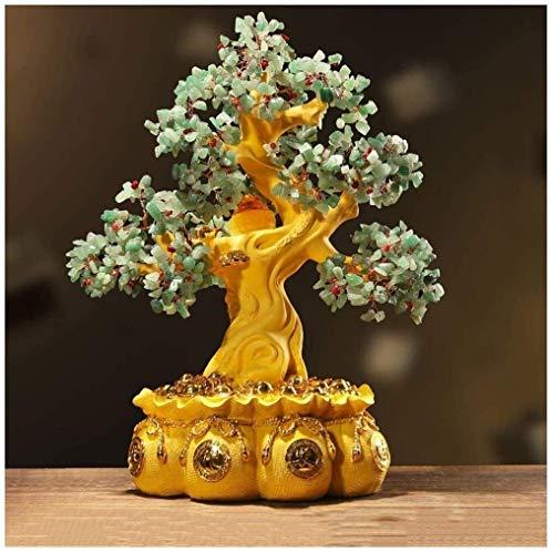 Inicio Accesorios Árbol citrino Cuerno la abundancia oro Bonsai Árbol del dinero Feng Shui of Life Piedras preciosas Árbol cristal para la curación y la suerte Accesorios decorativos 16,9 pulgadas E