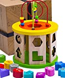 Jaques of London Activity Cube Wooden Toys | Educational Centre for Baby and Toddler with Bead Maze to Learn Sorting and Develop Through Play | Since 1795