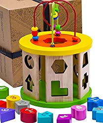 There are endless ways to use our Wooden Activity Cube Toy! It is an essential toy for childhood development and is packed full of benefits.The bright, vivid colours are ideal for promoting colour recognition. Your children will associate the colours...