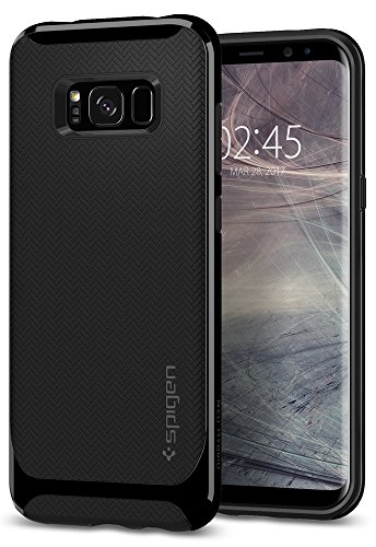 Spigen 565CS21599 Neo Hybrid für Samsung Galaxy S8 Hülle, Zweiteilige Handyhülle Modische Muster Silikon & PC Rahmen Schutzhülle Hülle Shiny Black