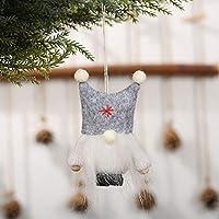 サンタクローススノーマンエルクかわいいフェルトドールツリークリスマスギフトペンダントハンギングクラフトオーナメントクリスマスホームデコ