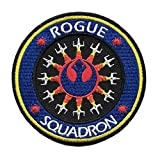 Star Wars Rogue Squadron Logo Embroidered 3.5' in Diameter Iron on Patch