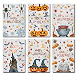 Halloween Postcards: Set includes 48 pc. Halloween Cards Assortment; 6 Different Card Designs (8 of each); Can be used as Halloween Party Invitations or as Halloween Cards for Kids