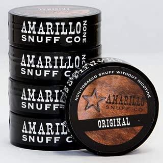 Amarillo Snuff - 5-can roll - Tobacco and Nicotine Free (Original)