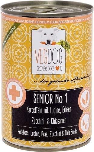 VEGDOG Vegetarisches Hunde Alleinfutter Senior No 1, 6er Pack (6 x 800 g)