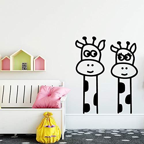 Pegatinas de pared creativas de jirafa, pegatinas de pared de moda moderna, sala de estar, habitación de niños, Mural Art Deco, pegatinas de pared A8 L 43x52cm