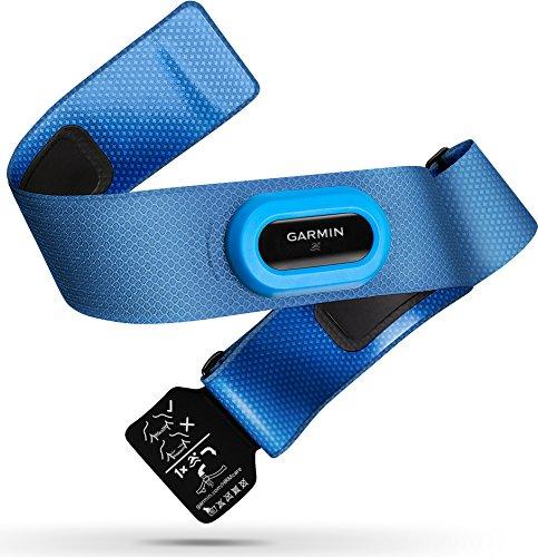 Garmin Premium Herzfrequenz-Brustgurt HRM-Swim - zur Herzfrequenzmessung unter Wasser, rutschfestes Design zum Schwimmen, resistent gegen Pool-Chemikalien