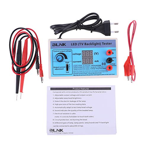 BIlinli AC 220V LED-Bildschirm mit Heller Hintergrundbeleuchtung LCD-Tester Perlenplatinenlampe