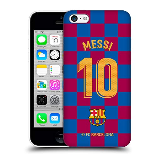 Head Case Designs Officially Licensed FC Barcelona Lionel Messi 2019/20 Players Home Kit Group 1 Hard Back Case Compatible with Apple iPhone 5c