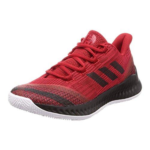 Adidas Harden B/E 2, Zapatillas de Deporte para Hombre, Negro (Negbás/Ftwbla/Escarl 000), 39 1/3 EU