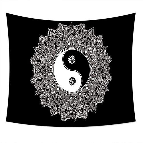 Jsairyl Mandala muur hangen, sprei indian psychedelische oosterse, wanddecoratie, yoga meditatie mat