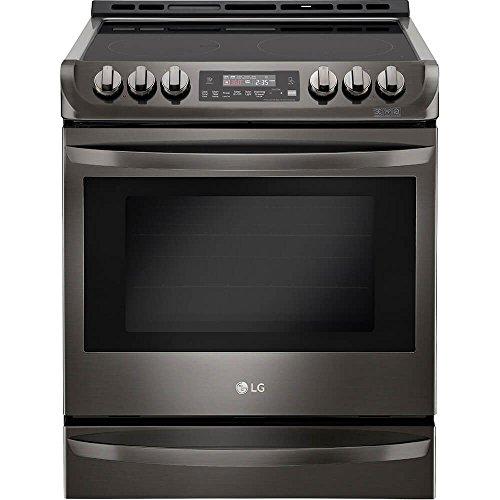 "LG LSE4613BD 30"" Black Stainless Steel Series Slide-in Electric Range with Smooth Cooktop, in Black Stainless Steel"