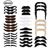 EXTSUD 36pcs Moustache Déguisement Autocollant Fausses Moustaches Auto-adhésives...