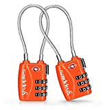 TSA Approved Luggage Locks, Easy Re-settable Combination Backpack Lock, Travel Lock for Suitcase