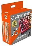 SteelSeries PrismCaps – teclas de doble inyección estilo pudding – termoplástico PBT resistente – compatible con la mayoría de teclados mecánicos – vástagos MX – negro (Configuración americana)