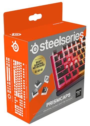 """SteelSeries PrismCaps – Double-Shot-Tastenset mit """"Pudding""""-Optik – Kompatibilität mit allen gängigen mechanischen Tastaturen – MX-Stößel – Schwarz (US-Tastaturlayout)"""