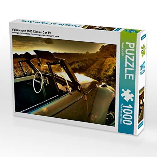 CALVENDO Puzzle Volkswagen 1500 Classic Car TV 1000 Teile Lege-Größe 64 x 48 cm Foto-Puzzle Bild von Desiree Rohrer
