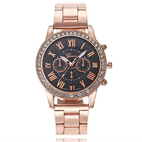 Watches for Women, Fashion Casual Quartz Watches Girls Ladies Unique Luxury Crystal Rhinestone Wrist Watch (A)