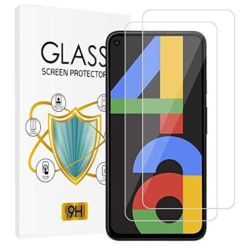 wsky [2 Stück] Panzerglas Schutzfolie für Google Pixel 4A, 9H Härte, Frei von Kratzern, Anti-Bläschen, Anti-Öl, 0.33mm Ultra-klar Displayschutzfolie für Google Pixel 4A