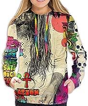 GongWe Rob Zombie The Electric Warlock Acid Witch Womens Hoodie Sweatshirt 3D Printed Pullover Slim Fit Hoody Black