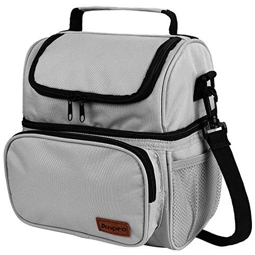 Anpro Lunch Bag - Insulated Cooler Bag for Carrying Lunch Box with...
