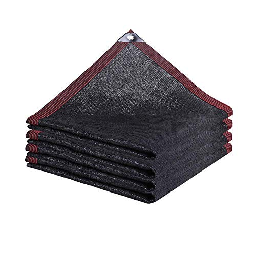 YUDIAN -Shade net Sunblock Shade Cloth,Shade Netting UV Resistant Net Mesh Tarp for Outdoor Garden Cover Patio Flower Plant,23 Sizes (Color : Black, Size : 6x8m)