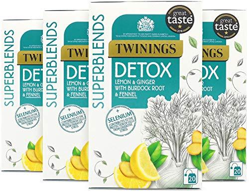Twinings Superblends Detox with Lemon, Ginger, Burdock Root & Fennel, 80...