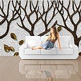 3D Fotomurales Papel pintado Árbol marrón 400(W)X280(H) cm Mural Salón Dormitorio Despacho Pasillo Decoración murales decoración de paredes moderna