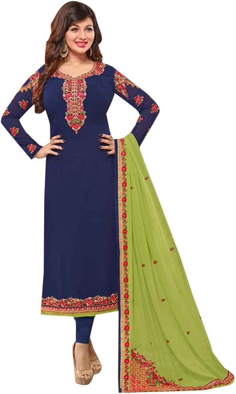 Festive Indian Straight Salwar Suit Fancy Embroidery Party wear Ethnic wear Muslim 7211 1